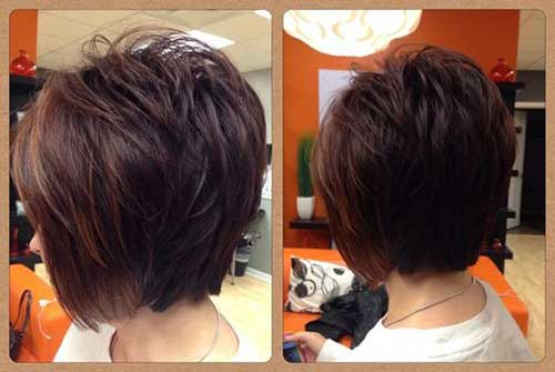 Short Haircuts Dark Brown Hair