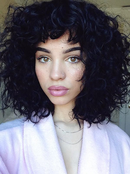 Curly, Curly Hair Bangs
