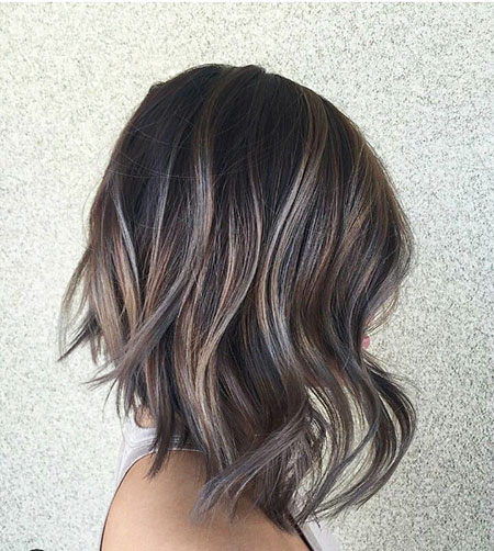Balayage, Dark Hair With Highlights