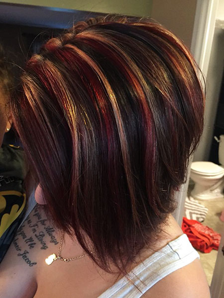 Blonde, Red And Blonde Highlights