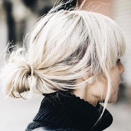 Messy Hair, Blonde Messy Bob Short