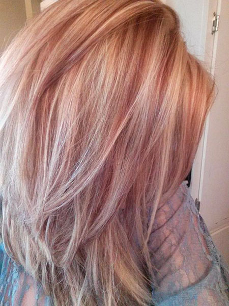 Hair Gold Rose Color