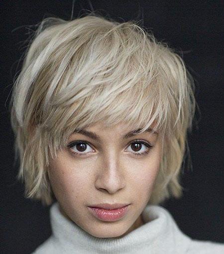 Fine Blonde Short Shaggy
