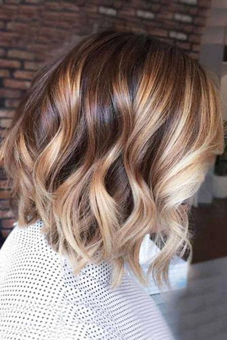 12 Blonde Highlights on Short Brown Hair | Short