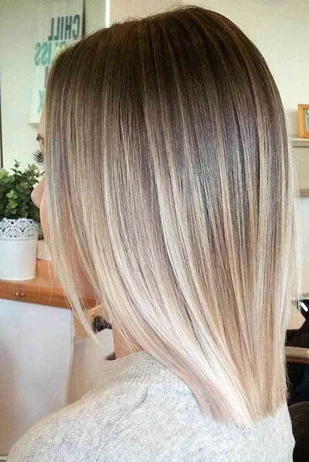 Blonde Hair Balayage Straight