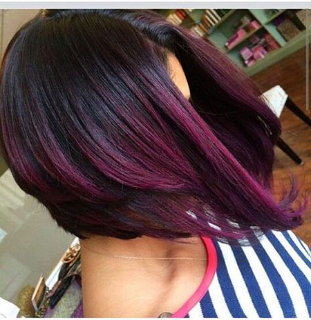 Purple Color Hair Dark
