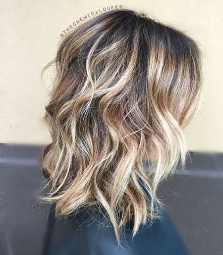 Length Hair Balayage Medium