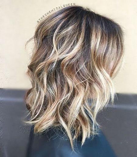 Length Hair Balayage Medium