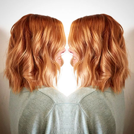 Hair Lob Ginger Copper