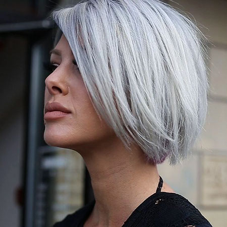 Blonde Silver Undercut Short