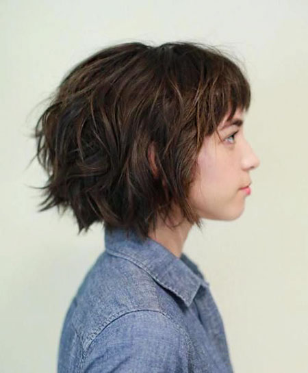 Wavy Short Hair Thick