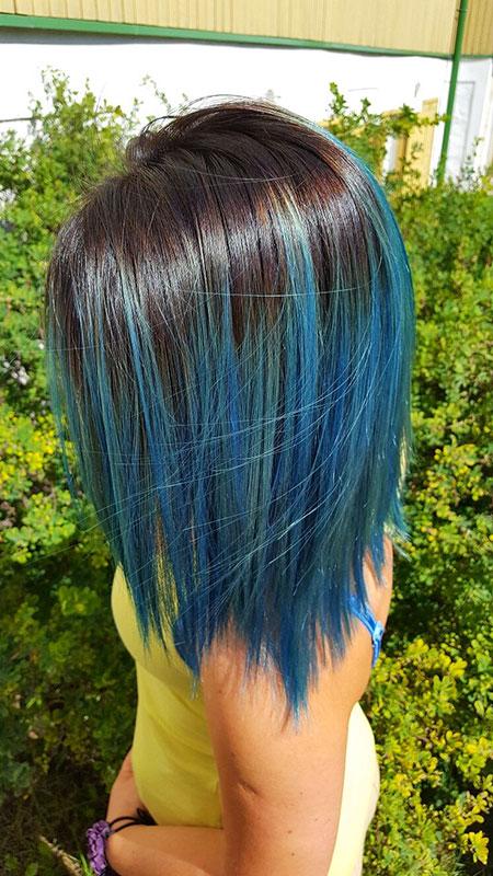 Bob Gray Hair Blue