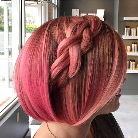 Hair Gold Rose Pink