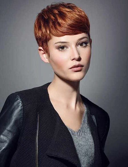 Pixie Short Hair Copper