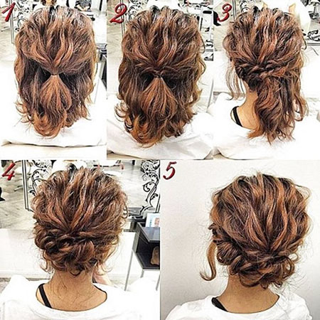 Short Updo Hair, Hair Curly Updos Updo