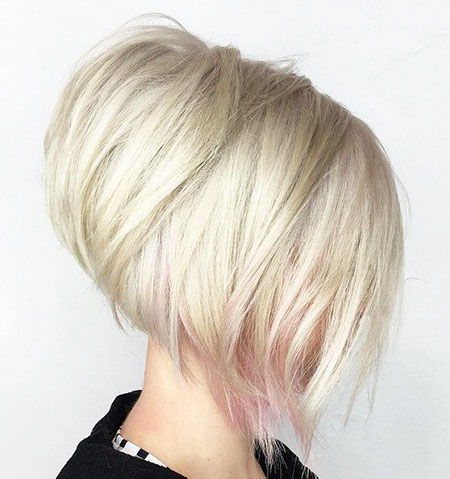 Blonde and Pink Hair, Blonde Bob Hair Up