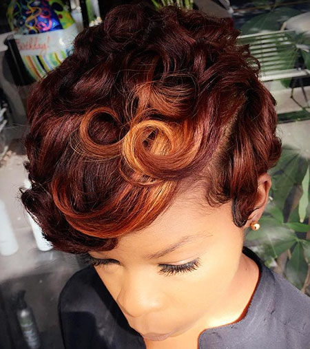 Short Hair Women Color