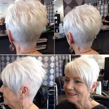 Women Short Silver Pixie