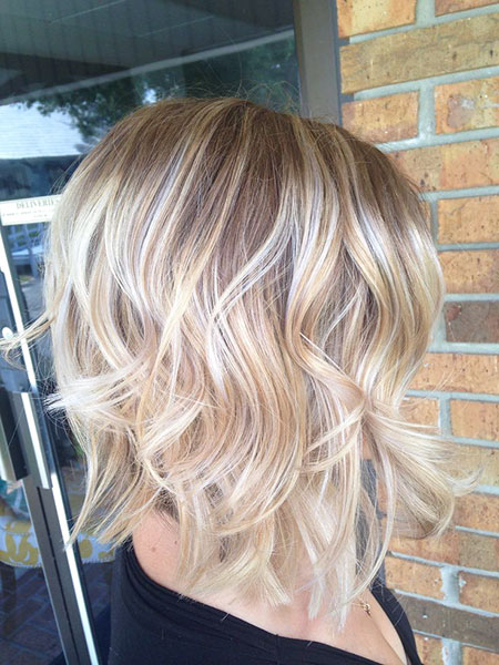 Beachy Waves Short Hair, Blonde Hair Hairtyles Balayage