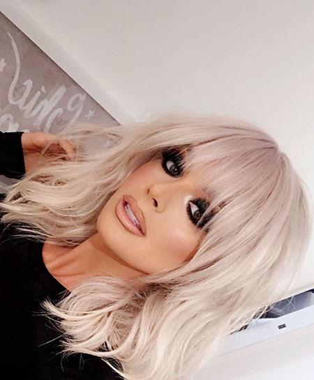 Platinum Blonde Hair, Blonde Hair Bangs Platinum