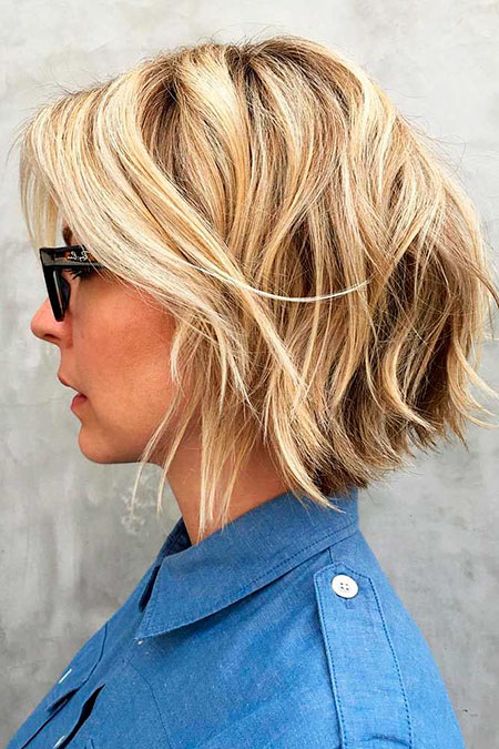 Trendy Hair, Bob Blonde Balayage Years
