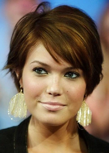 Brown Hair Color, Short Round Hair Haircuts