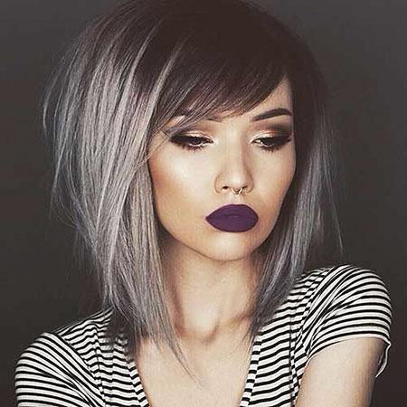 Grey Hair Color, Hair Color Bob Style