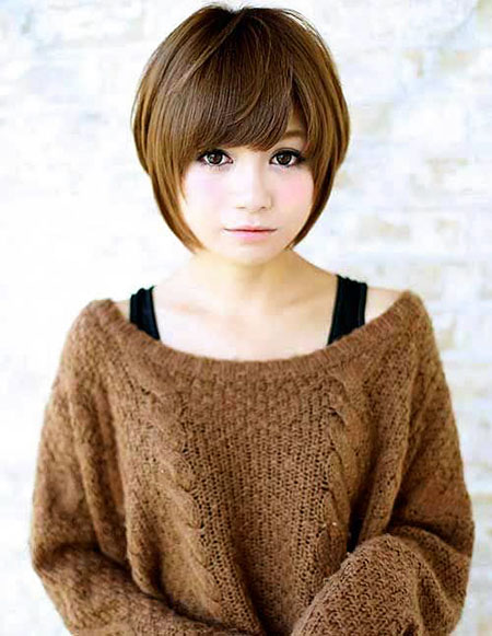 Cute Short Hair, Short Round Hair Bob