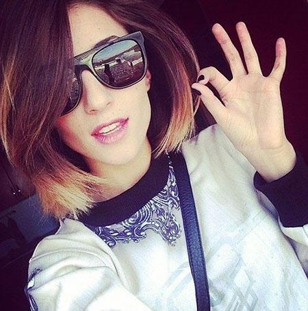 Pretty Hair, Ombre Short Hair Sunglasses