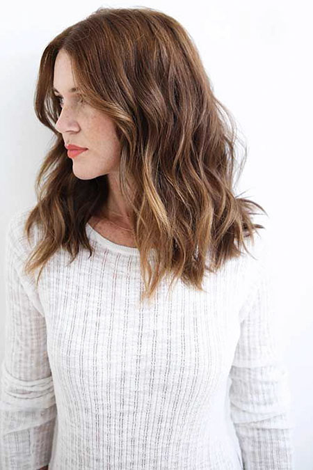 Brown Medium Length Hair, Hair Wavy Medium Length