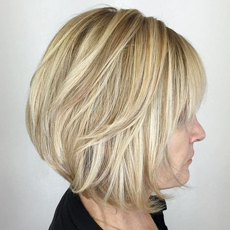 Layered Haircut, Blonde Bob Balayage Women