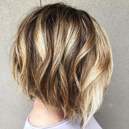 Summer Hair, Bob Balayage Blonde Thick