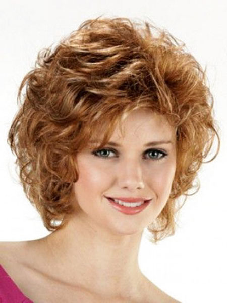 Short Curly Round Hair