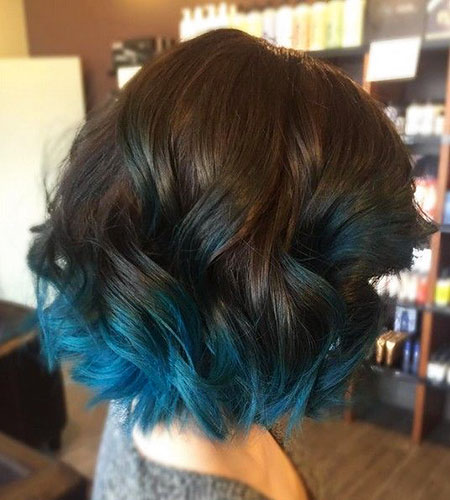 Ombre Hair Blue Color