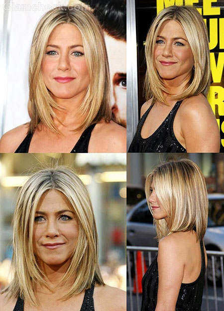 Jennifer Aniston Short Hair, Bob Aniston Jennifer Longer
