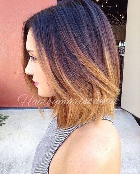 Short Haircuts for Straight Hair, Bob Hair Balayage Short
