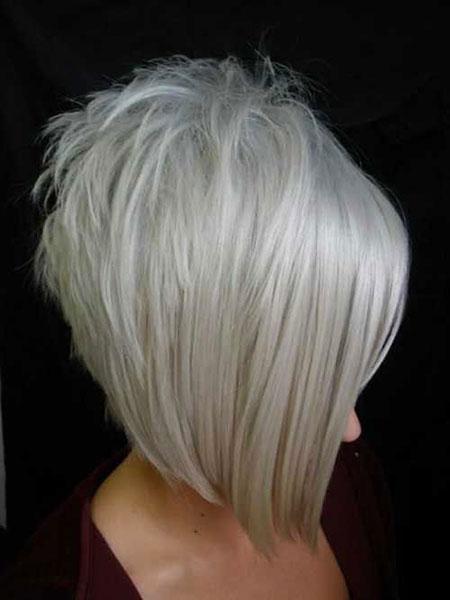 Bob Blonde Hair Parted