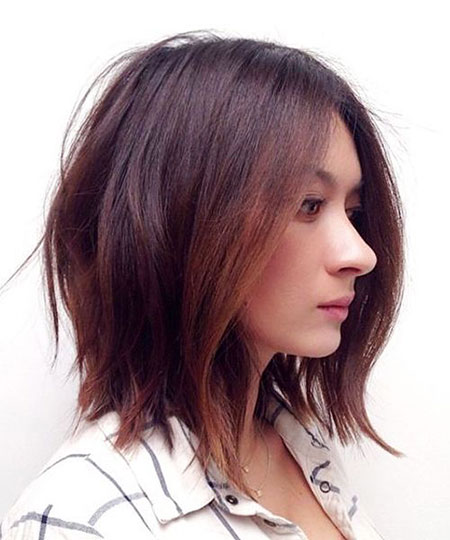 Brown Medium Balayage Shaggy