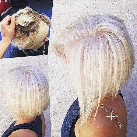 Blonde Platinum Bob Bleach