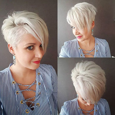 Short Pixie Silver Hairtyles
