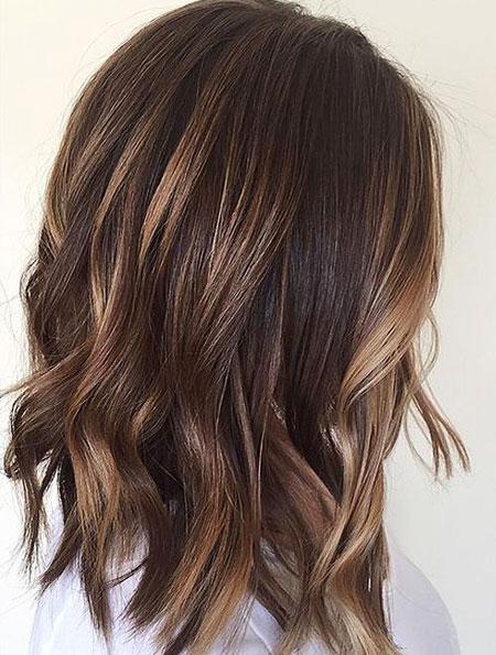 Brown Balayage Highlights Hair