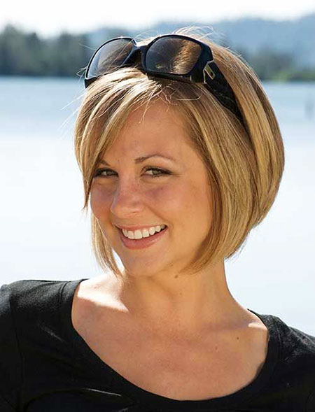 Short Hair Women Bob