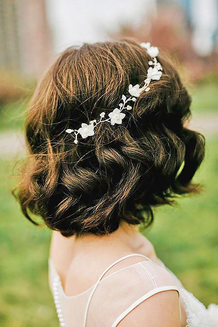 Wedding Hair Short Brunette