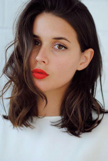 Red Lips Warm Orange