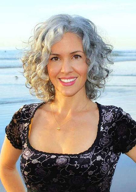 Curly Gray Hair Hairtyles