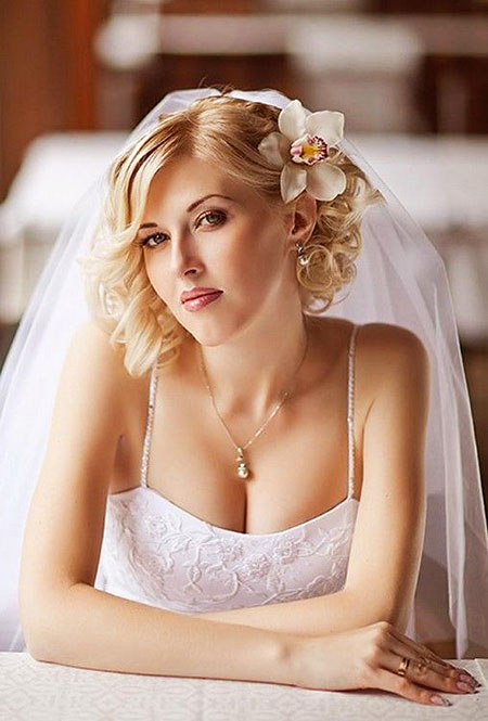 Wedding Hair Short Veil
