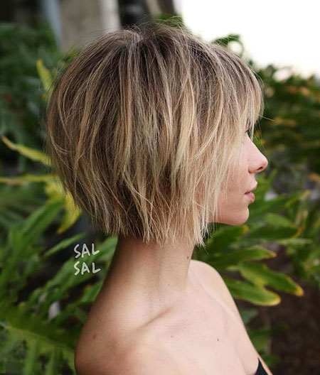 Bob Choppy Balayage Short