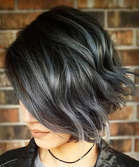 Hair Silver Choppy Balayage