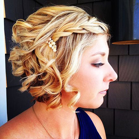 Wedding Curly Short Hairtyles