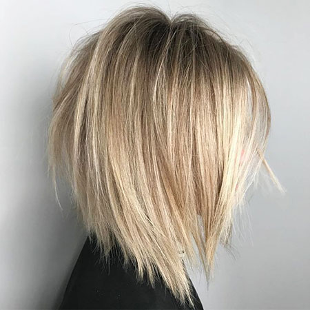 Bob Blonde Balayage Choppy